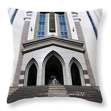 Throw Pillow featuring the photograph The Fengshan Presbyterian Church In Taiwan by Yali Shi