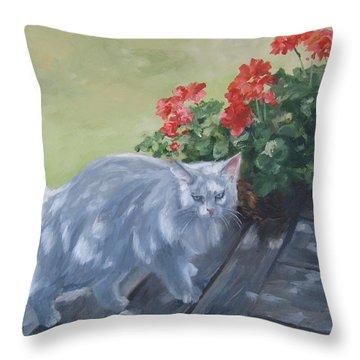 A Feral Cloud Throw Pillow by Connie Schaertl
