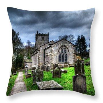 The Fewston Church Throw Pillow
