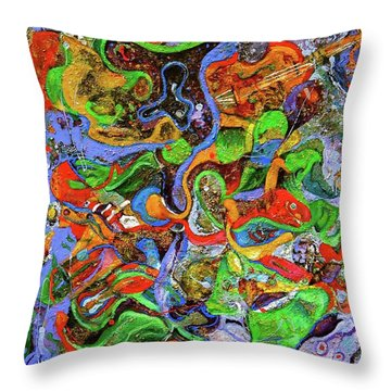 The Fiddle Player Throw Pillow