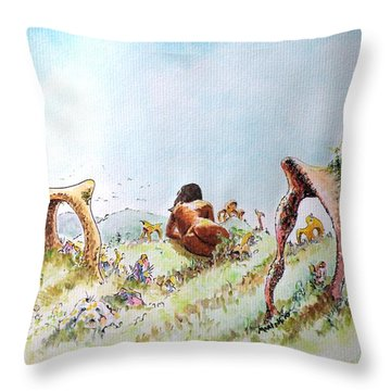 The Fields Of Artemis Throw Pillow