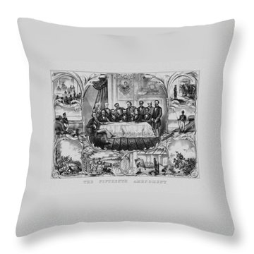 The Fifteenth Amendment  Throw Pillow by War Is Hell Store