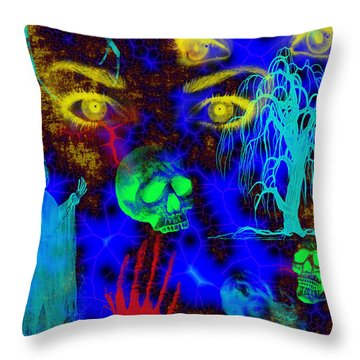 The Fight For Souls Throw Pillow