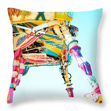 The Fighter Throw Pillow by Kim Fearheiley