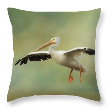 Throw Pillow featuring the photograph The Final Approach by Kim Hojnacki