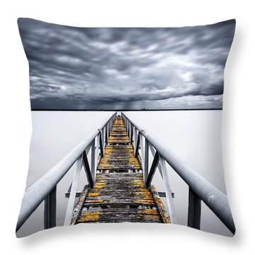 The Final Cut Throw Pillow by Jorge Maia