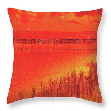 Throw Pillow featuring the digital art The Final Paragraph by Wendy J St Christopher