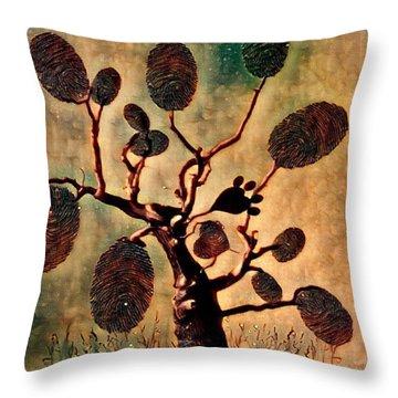 The Fingerprints Of Time Throw Pillow