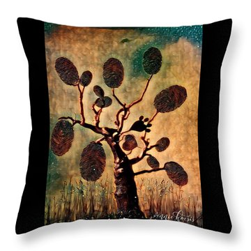 The Fingerprints Of Time Throw Pillow