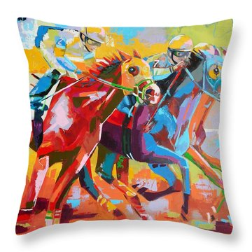 The Finishing Post- Large Work Throw Pillow