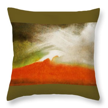 The Fire Mountain - Cotapaxi Throw Pillow