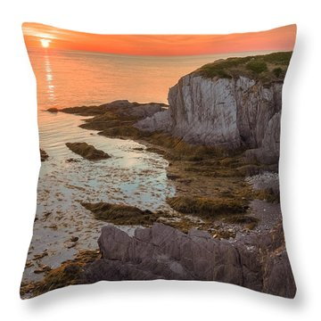 Nova Scotian Sunset Throw Pillow
