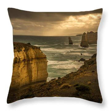 The Fire Sky Throw Pillow by Andrew Matwijec
