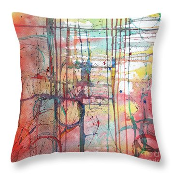The Fire Within Throw Pillow by Rebecca Davis