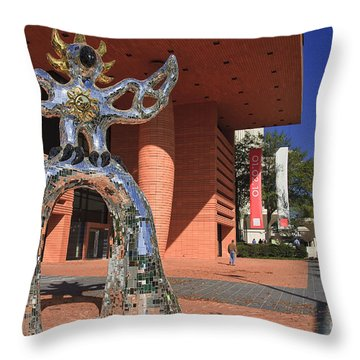 The Firebird At The Bechtler Museum In Charlotte Throw Pillow