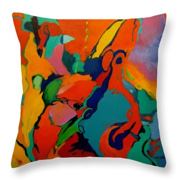 The Firebird Throw Pillow by Bernard Goodman