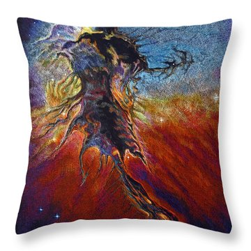 Throw Pillow featuring the drawing The Firmament by Suzanne McKee