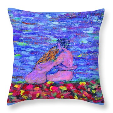 The First Autumn Throw Pillow