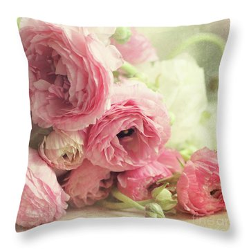 Throw Pillow featuring the photograph The First Bouquet by Sylvia Cook