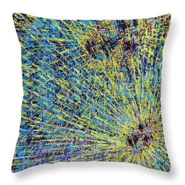 The First Christmas Throw Pillow by Patrick J Murphy