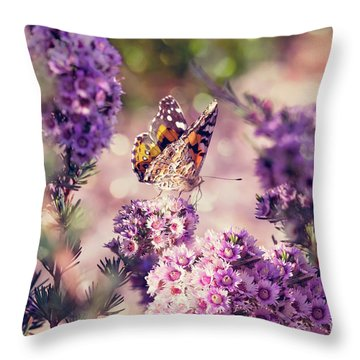 Throw Pillow featuring the photograph The First Day Of Summer by Linda Lees