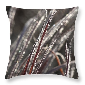 The First Frost Throw Pillow