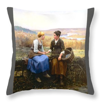 Throw Pillow featuring the painting The First Grief by Celestial Images