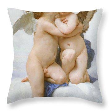 The First Kiss  Throw Pillow