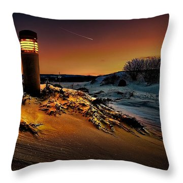 The First Light At Sunset Throw Pillow