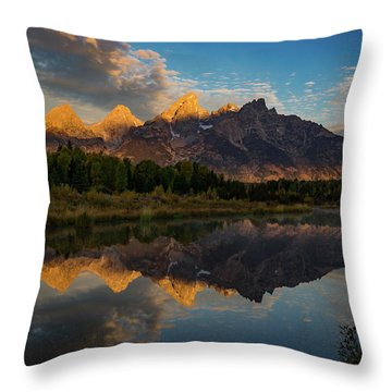 The First Light Throw Pillow by Edgars Erglis