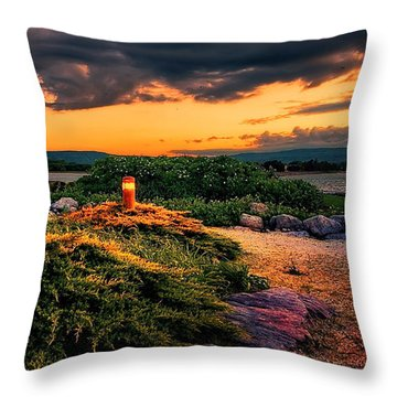 The First Lights Throw Pillow