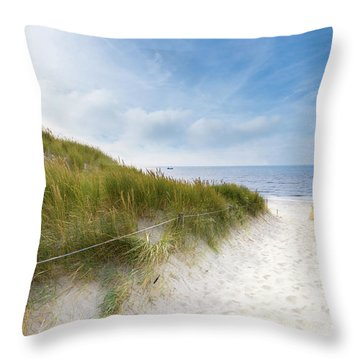 Throw Pillow featuring the photograph The First Look At The Sea by Hannes Cmarits