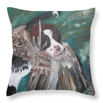 The First Retrieve Throw Pillow