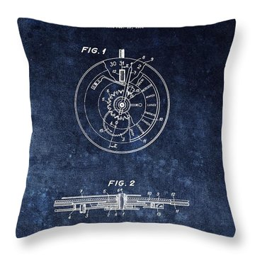 The First Rolex Patent Throw Pillow