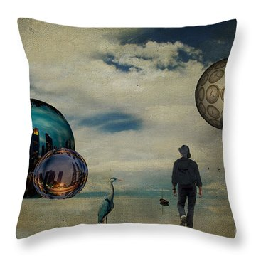 Throw Pillow featuring the photograph The First Step ... by Chris Armytage