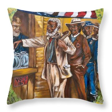 Historical  Artwork     First Vote - 1867 Throw Pillow