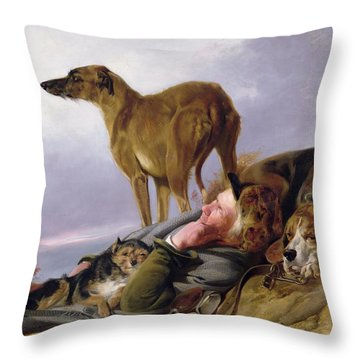 The First Watch Throw Pillow by Richard Ansdell