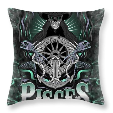 The Fish Pisces Spirit Throw Pillow