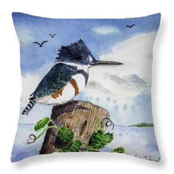 The Fisher Queen  Throw Pillow