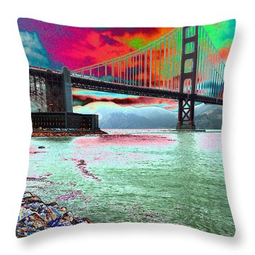 The Fisher  Throw Pillow