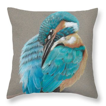 The Fisherking Throw Pillow by Gary Stamp