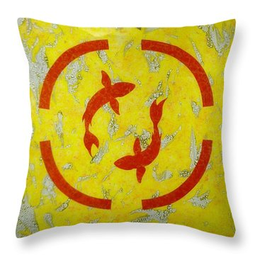 The Fishes Throw Pillow