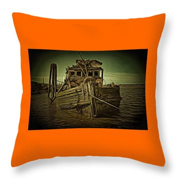 Throw Pillow featuring the photograph Mary D. Hume Shipwreak by Thom Zehrfeld