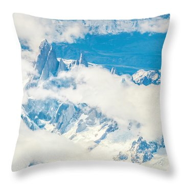 The Fitz Roy Throw Pillow by Andrew Matwijec
