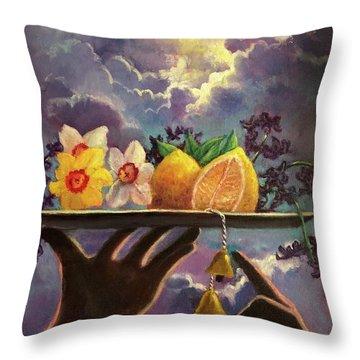 The Five Senses Throw Pillow