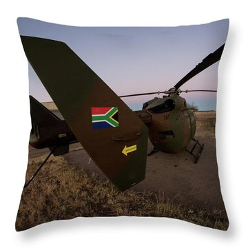 Throw Pillow featuring the photograph The Flag by Paul Job
