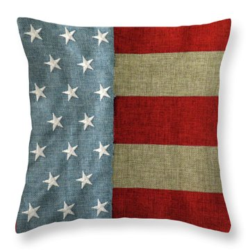 The Flag Throw Pillow by Tom Prendergast