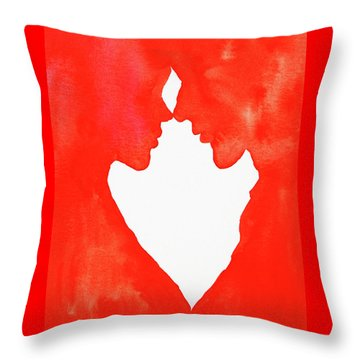 The Flame Of Love Throw Pillow