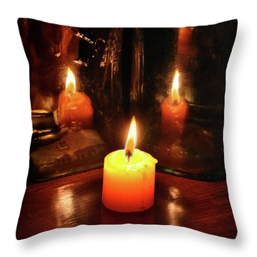 The Flame Throw Pillow by Stephan Grixti