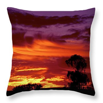 The Flame Thrower Throw Pillow